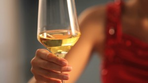 stock-footage-couple-toasting-with-wine-at-restaurant